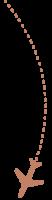 Fliegerpfeil-links-caramel